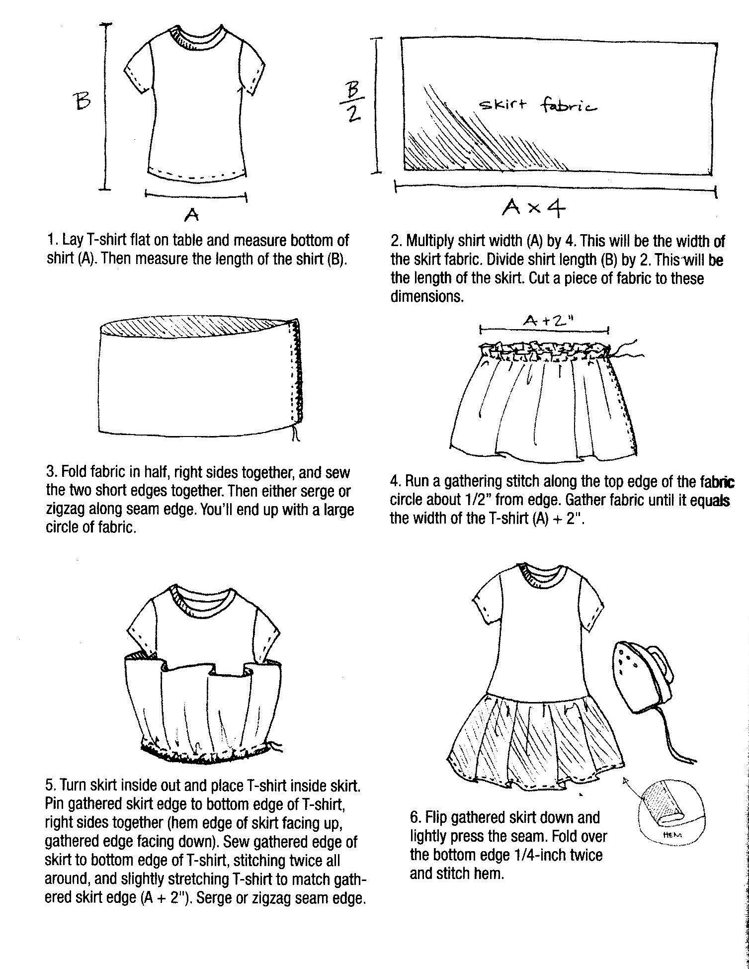T shirt dress instructions 500 dresses for How to put a picture on a shirt diy