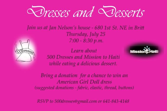 dessert and dresses