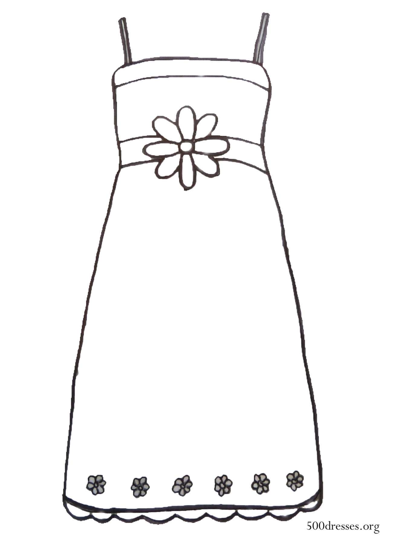 free dresses coloring pages - photo#31