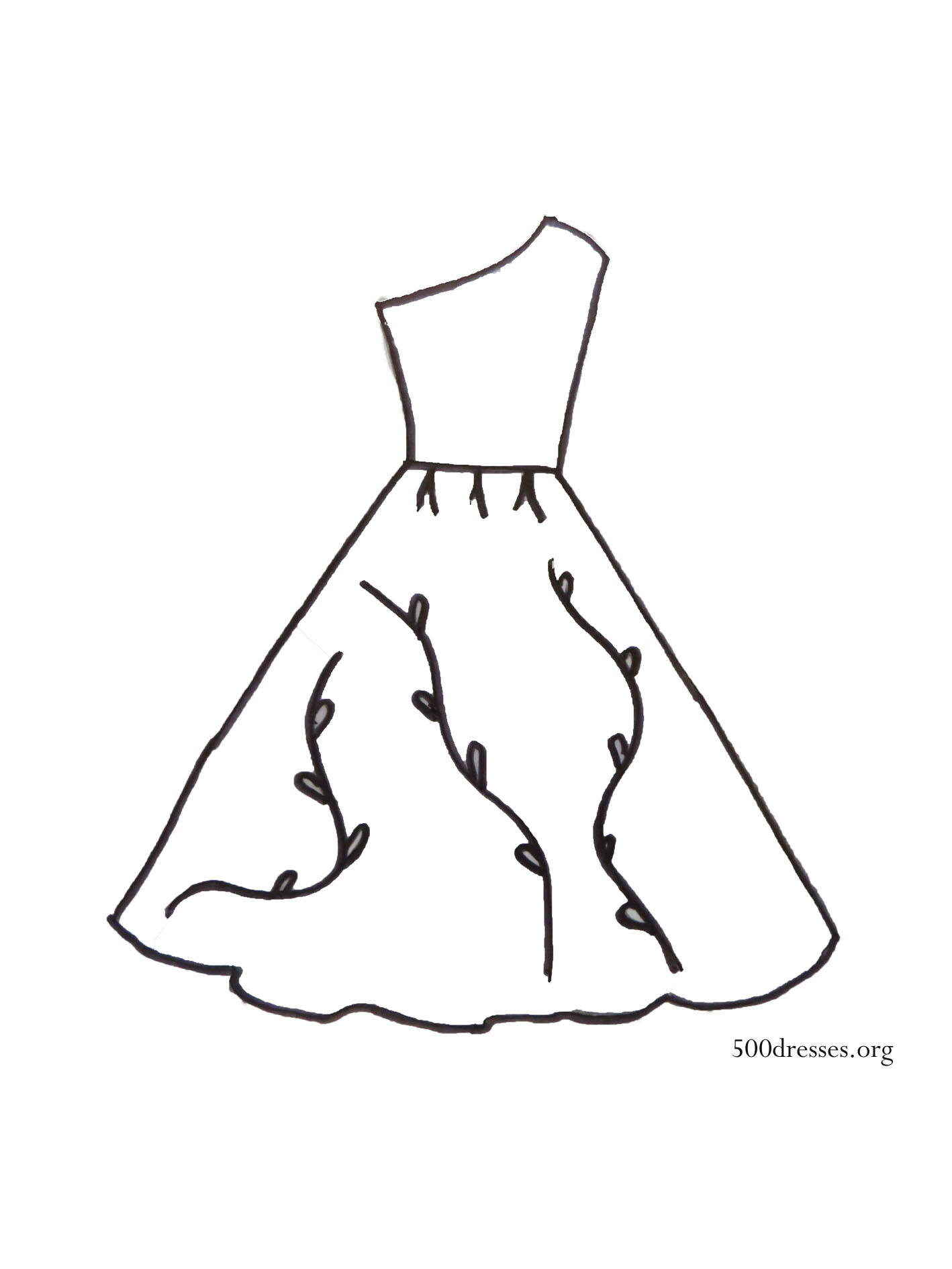 dress templates coloring pages - photo#19