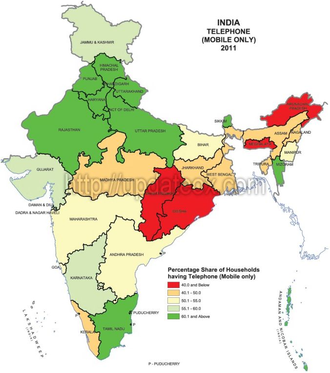 State-wise-map-of-households-having-Mobile-phones-in-India