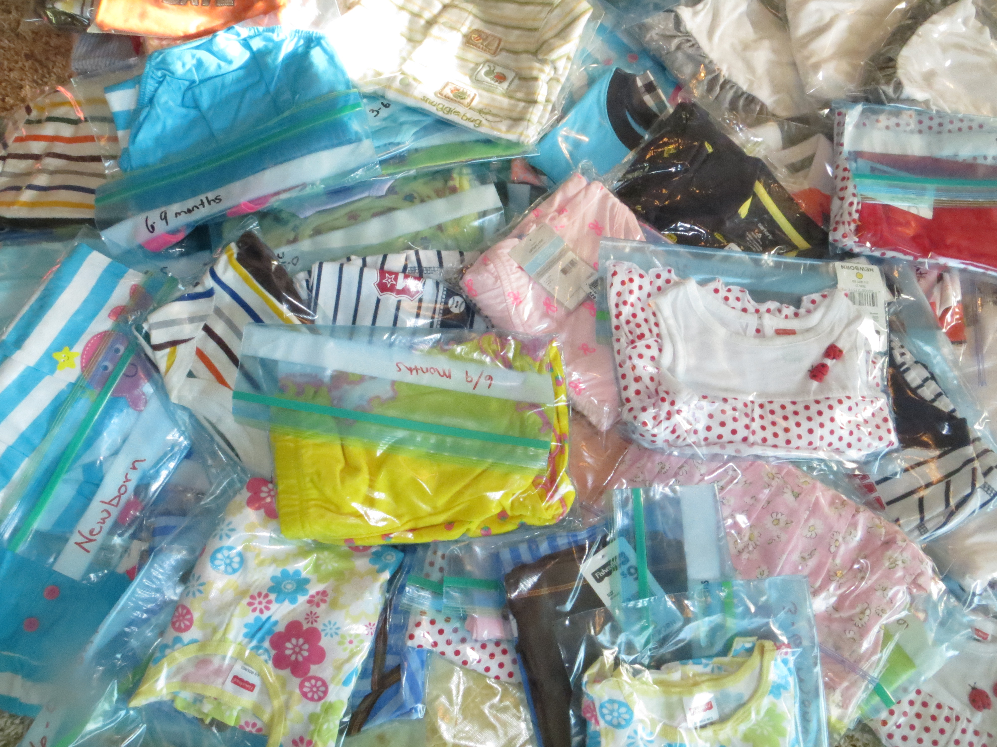 Baby Clothes Heading To Heartline Ministries In Port Au Prince