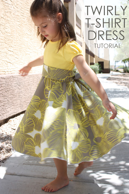 Twirly Tshirt dress tutorial